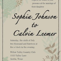 Wedding Invitation RSVP Card Reception Card Flower by MadeByMarcy