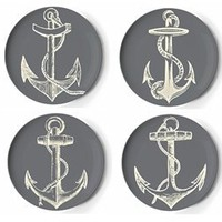 Set of Four Maritime Coaster Dishes by Thomas Paul