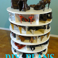 The DIY Lazy Shoe Zen Shoes Rack Plans/ Lazy Susan shoe rack- shoe Organiser pattern