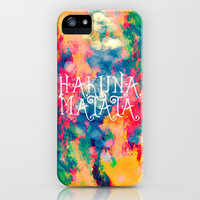 Hakuna Matata Painted Clouds iPhone Case by Caleb Troy | Society6