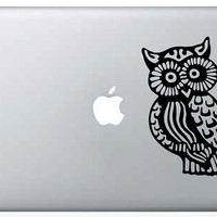 Trippy Owl Laptop Computer Decal - Large