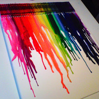 Melted Crayon Art 16x20' Canvas - Proceeds go to Haiti