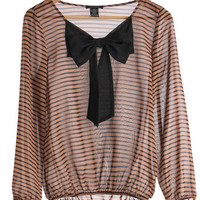 Bow Me Love Top | Mod Retro Vintage Long Sleeve Shirts | ModCloth.com