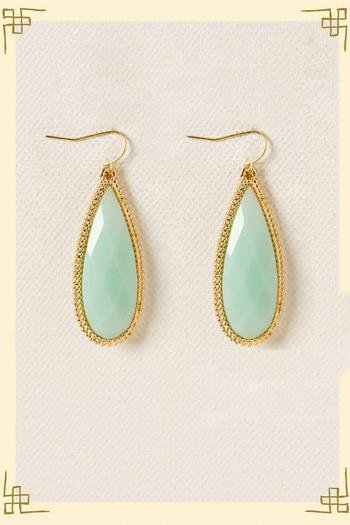 Envy Teardrop Earrings in Mint