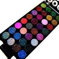 Amazon.com: Dazzling 32 Color Neon Glitter Eyeshadow Makeup Kit: Beauty