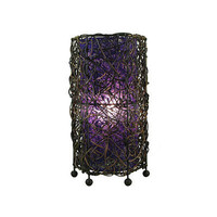 Durian Table Lamp, Purple by Eangee - CosmopolitanOutlet.com