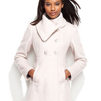GUESS Petite Coat, Double-Breasted Empire-Waist - Womens Coats - Macy's