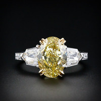 Fancy Yellow 4.02 Carat Diamond Ring - 10-91-289 - Lang Antiques