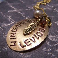 Harry Potter NecklaceWingardium Leviosa by EmilinaBallerina