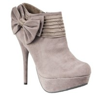 Riverberry Womens Covina Platform Stiletto Booties, Taupe, Size 9