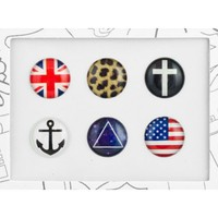 Amazon.com: Bubble Buttons Home Button Sticker Hipster Pack: Cell Phones & Accessories