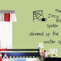 Incy Wincy Spider Wall Decal on Luulla