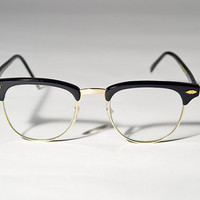 Vintage Deadstock Black Clubmaster Eye Glasses Sunglasses A7