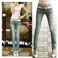 Special Back Pocket Frills Feet Jeans For Women China Wholesale - Sammydress.com