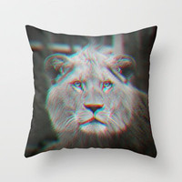 LION  3D Effect Black and White  Throw Pillow by M✿nika  Strigel	 in 3 SIZES by Society6