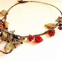 $32.00 Wildberry necklace by gabriel87 on Etsy