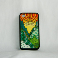The Ambitious Adventurer, iPhone case, iPhone 4/4s. mountains, nature, hiking, Sound of Music, unique, one of a kind, hipster, folk, men