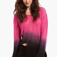 Reverse Burned Notice Studded Sweater $60