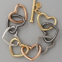 Marc by Marc Jacobs Love Edge Tumbled Pave Heart Bracelet | SHOPBOP