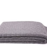 One Kings Lane - Cashmere Classics - Sofia Cashmere Geometric Knit, Heather