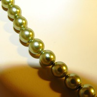 Lustrous 1928 Green Faux Pearls and Earrings from giltygirlvintage on Ruby Plaza