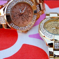 Beautiful Designer Inspired Watches in Gold, Silver and Rose Gold!