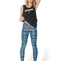 Tape Sky Blue Leggings - LIMITED | Black Milk Clothing