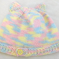 Baby Hat Pastel Cat Ears