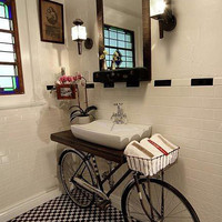 Found: A Built-In Bike... In A Bathroom Benjamin Bullins | Apartment Therapy Re-Nest