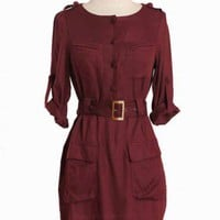 mayberry road cargo pocket dress at ShopRuche.com, Vintage Inspired Clothing, Affordable Clothes, Eco friendly Fashion