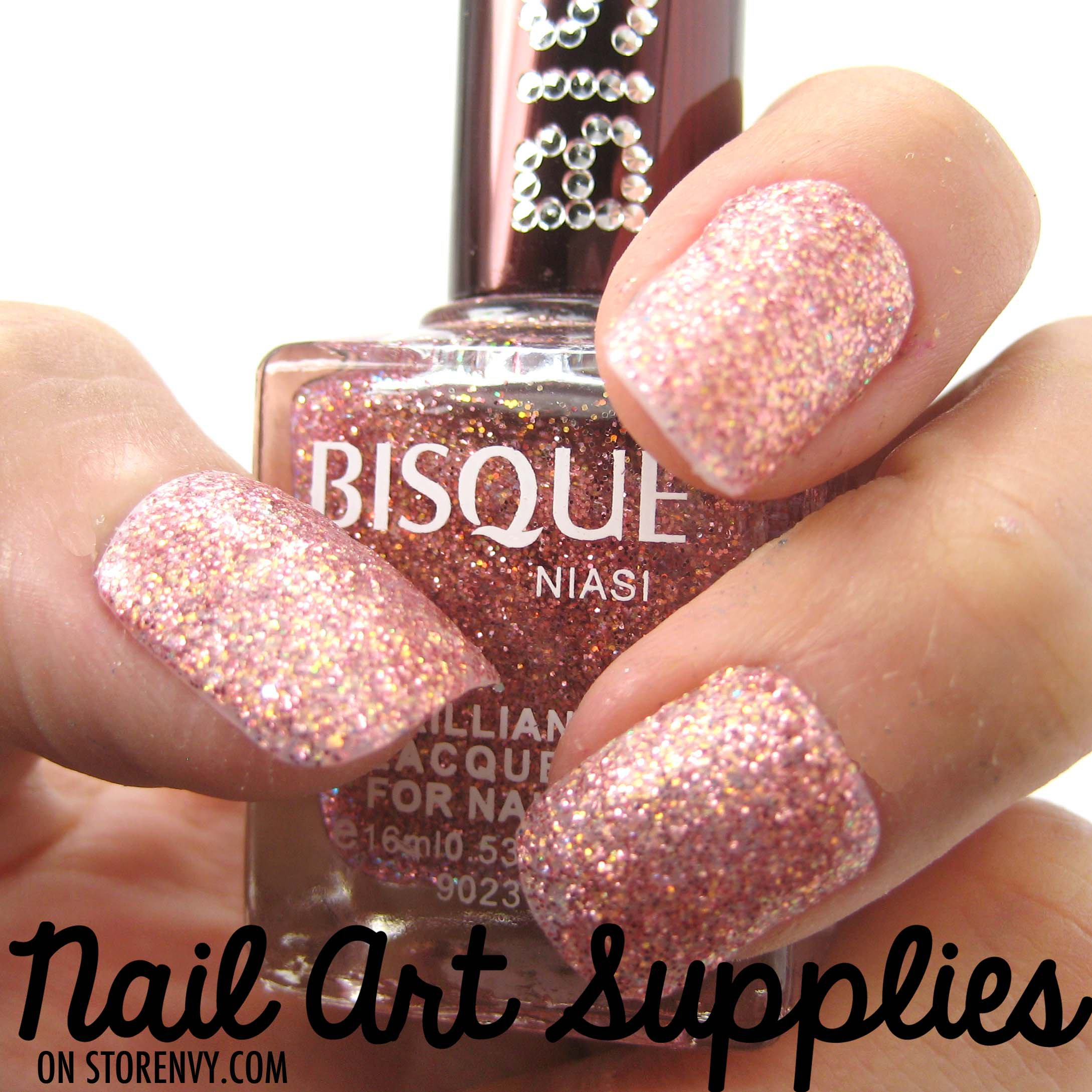 Pink And Blue Glitter Nail Polish: Pink Shimmer- Light Pink Fine Glitter From Nailartsupplies On