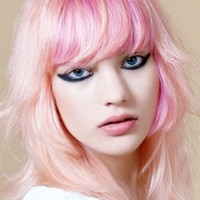 Funky Pink Hair Color Idea - Punk Girl Hairstyles Pictures
