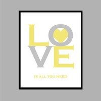 Love is All You Need  Inspirational Quote   8x10 by karimachal