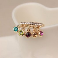 Hot Sale Stylist Colorful Diamond Ladies Rings : Wholesaleclothing4u.com