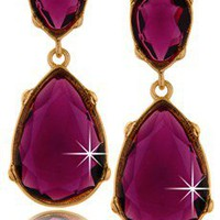 KENNETH JAY LANE ANGELINA Amethyst Drop Earrings - ACCESSORIES | JEWELRY | Earrings | Pierced | PRET-A-BEAUTE.COM