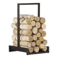 Alton Bronze Log Holder in Fireplace Accessories | Crate&amp;Barrel