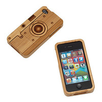 WOOD IPHONE CAMERA CASE | Mobile, Cell, Smart Phone, Shell, Bamboo, Scratch Protector, Retro, Old School, Vintage, Photography | UncommonGoods
