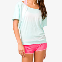 Short Sleeve Cutout Back Tee