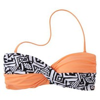 Target : Junior&#x27;s Tribal Print Bandeau Swim Top -Assorted Colors : Image Zoom