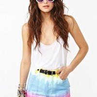 High Waisted TyeDye Shorts