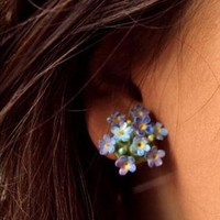 Forget Me Not Vintage 40&#x27;s Clip Earrings | JewelHausRocks | ASOS Marketplace