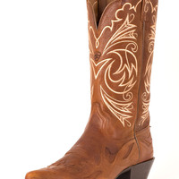 Ariat Women's Heritage Western J Toe Wing Tip Boot - Wood