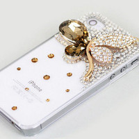 iPhone4 Butterfly Crystals Luxury Design Case - GULLEITRUSTMART.COM