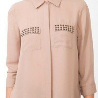 Studded Pocket Shirt | FOREVER 21 - 2031556879