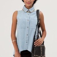 Boyfriend Blues Vest - Clothes