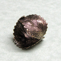 Leaf Ring by ranaway on Etsy