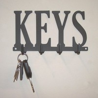Key Rack Hanger with 4 Hooks by KnobCreekMetalArts on Etsy