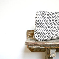 black and white geometric tribal clutch by eclu on Etsy