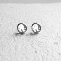 Elephant Earring, Cyber Monday Etsy Sale, Black Friday Etsy Sale, Elephant Earring Stud, Elephant Ear Studs, Tiny Earring Posts E283