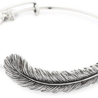 "Alex and Ani Earth Sultry ""Plume Feather"" Bangle: Jewelry: Amazon.com"